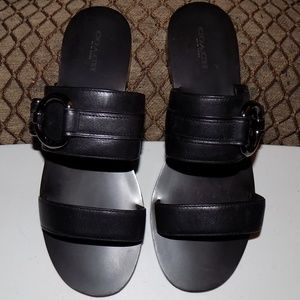 Coach leather sandals US8B